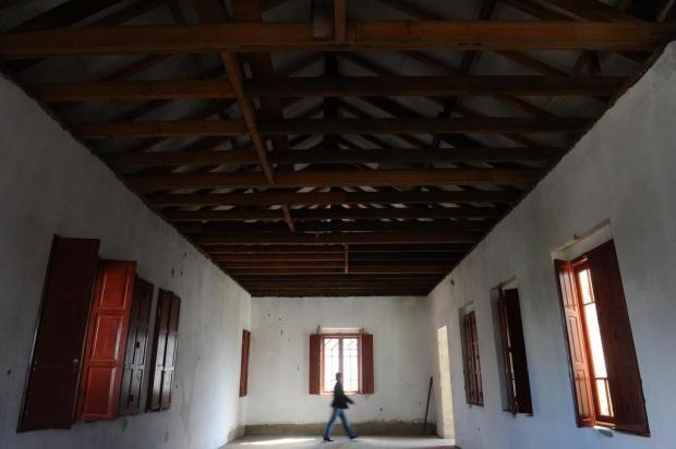 O interior restaurado